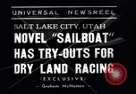 Image of amphibious sailboat Salt Lake City Utah USA, 1938, second 4 stock footage video 65675041439
