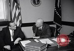 Image of Dwight Eisenhower meeting with William Knowland United States USA, 1953, second 3 stock footage video 65675041444
