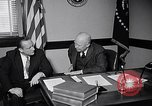Image of Dwight Eisenhower meeting with William Knowland United States USA, 1953, second 5 stock footage video 65675041444
