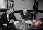 Image of Dwight Eisenhower meeting with William Knowland United States USA, 1953, second 8 stock footage video 65675041444