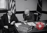 Image of Dwight Eisenhower meeting with William Knowland United States USA, 1953, second 9 stock footage video 65675041444
