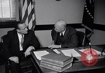 Image of Dwight Eisenhower meeting with William Knowland United States USA, 1953, second 10 stock footage video 65675041444