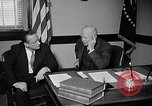 Image of Dwight Eisenhower meeting with William Knowland United States USA, 1953, second 11 stock footage video 65675041444