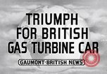 Image of British Rover Company gas turbine car Belgium, 1952, second 1 stock footage video 65675041447