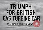 Image of British Rover Company gas turbine car Belgium, 1952, second 4 stock footage video 65675041447
