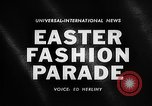 Image of Easter Fashion Parade Miami Florida USA, 1961, second 1 stock footage video 65675041460