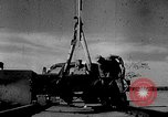 Image of rocket powered sled Muroc California, 1948, second 6 stock footage video 65675041471