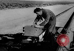 Image of rocket powered sled Muroc California, 1948, second 20 stock footage video 65675041471