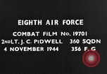Image of Eighth Air Force Germany, 1944, second 7 stock footage video 65675041522