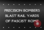 Image of Railroad yards Rome Italy, 1943, second 1 stock footage video 65675041593
