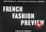 Image of French designed fashions of 1953 Paris France, 1953, second 2 stock footage video 65675041651