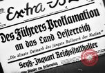 Image of Adolf Hitler announces the Anschluss Vienna Austria, 1938, second 1 stock footage video 65675041760