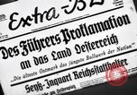 Image of Adolf Hitler announces the Anschluss Vienna Austria, 1938, second 4 stock footage video 65675041760