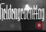 Image of Hermann Goering representing Hitler on Heldengedenktag Germany, 1938, second 11 stock footage video 65675041762