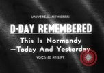 Image of Allied Forces Normandy France, 1964, second 1 stock footage video 65675041870