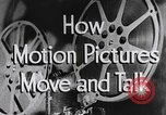 Image of how motion picture projectors, cameras, and optical sound works United States USA, 1939, second 11 stock footage video 65675041965