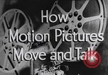 Image of how motion picture projectors, cameras, and optical sound works United States USA, 1939, second 12 stock footage video 65675041965