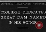 Image of Calvin Coolidge at Coolidge Dam dedication San Carlos Arizona USA, 1930, second 1 stock footage video 65675041966
