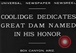Image of Calvin Coolidge at Coolidge Dam dedication San Carlos Arizona USA, 1930, second 2 stock footage video 65675041966