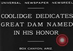 Image of Calvin Coolidge at Coolidge Dam dedication San Carlos Arizona USA, 1930, second 3 stock footage video 65675041966