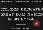 Image of Calvin Coolidge at Coolidge Dam dedication San Carlos Arizona USA, 1930, second 4 stock footage video 65675041966