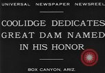Image of Calvin Coolidge at Coolidge Dam dedication San Carlos Arizona USA, 1930, second 5 stock footage video 65675041966
