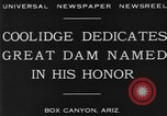 Image of Calvin Coolidge at Coolidge Dam dedication San Carlos Arizona USA, 1930, second 6 stock footage video 65675041966