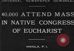 Image of Congress of Eucharist Manila Philippines, 1930, second 1 stock footage video 65675041968