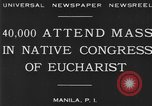 Image of Congress of Eucharist Manila Philippines, 1930, second 4 stock footage video 65675041968