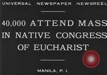 Image of Congress of Eucharist Manila Philippines, 1930, second 5 stock footage video 65675041968