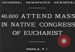 Image of Congress of Eucharist Manila Philippines, 1930, second 6 stock footage video 65675041968