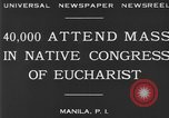 Image of Congress of Eucharist Manila Philippines, 1930, second 7 stock footage video 65675041968