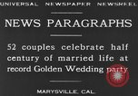 Image of Golden Wedding Party Marysville California USA, 1930, second 6 stock footage video 65675041969