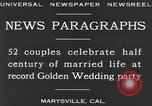 Image of Golden Wedding Party Marysville California USA, 1930, second 9 stock footage video 65675041969