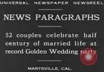 Image of Golden Wedding Party Marysville California USA, 1930, second 10 stock footage video 65675041969