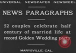 Image of Golden Wedding Party Marysville California USA, 1930, second 11 stock footage video 65675041969