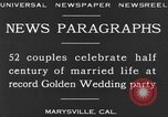 Image of Golden Wedding Party Marysville California USA, 1930, second 12 stock footage video 65675041969