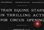 Image of Zebras and horses in circus Sarasota Florida USA, 1930, second 1 stock footage video 65675041973