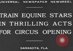 Image of Zebras and horses in circus Sarasota Florida USA, 1930, second 5 stock footage video 65675041973