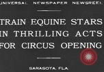 Image of Zebras and horses in circus Sarasota Florida USA, 1930, second 7 stock footage video 65675041973