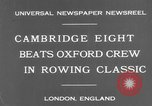 Image of Rowing Classic London England United Kingdom, 1931, second 7 stock footage video 65675041975