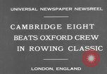 Image of Rowing Classic London England United Kingdom, 1931, second 8 stock footage video 65675041975