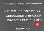 Image of train accident Delray Florida USA, 1931, second 2 stock footage video 65675041979