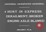 Image of train accident Delray Florida USA, 1931, second 4 stock footage video 65675041979