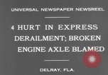 Image of train accident Delray Florida USA, 1931, second 9 stock footage video 65675041979