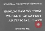 Image of Bagnell Dam Missouri United States USA, 1931, second 5 stock footage video 65675041980