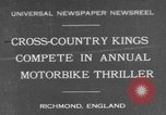 Image of motor bike race Richmond England, 1931, second 1 stock footage video 65675041981