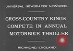 Image of motor bike race Richmond England, 1931, second 3 stock footage video 65675041981