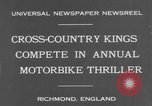 Image of motor bike race Richmond England, 1931, second 4 stock footage video 65675041981