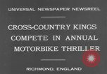 Image of motor bike race Richmond England, 1931, second 5 stock footage video 65675041981